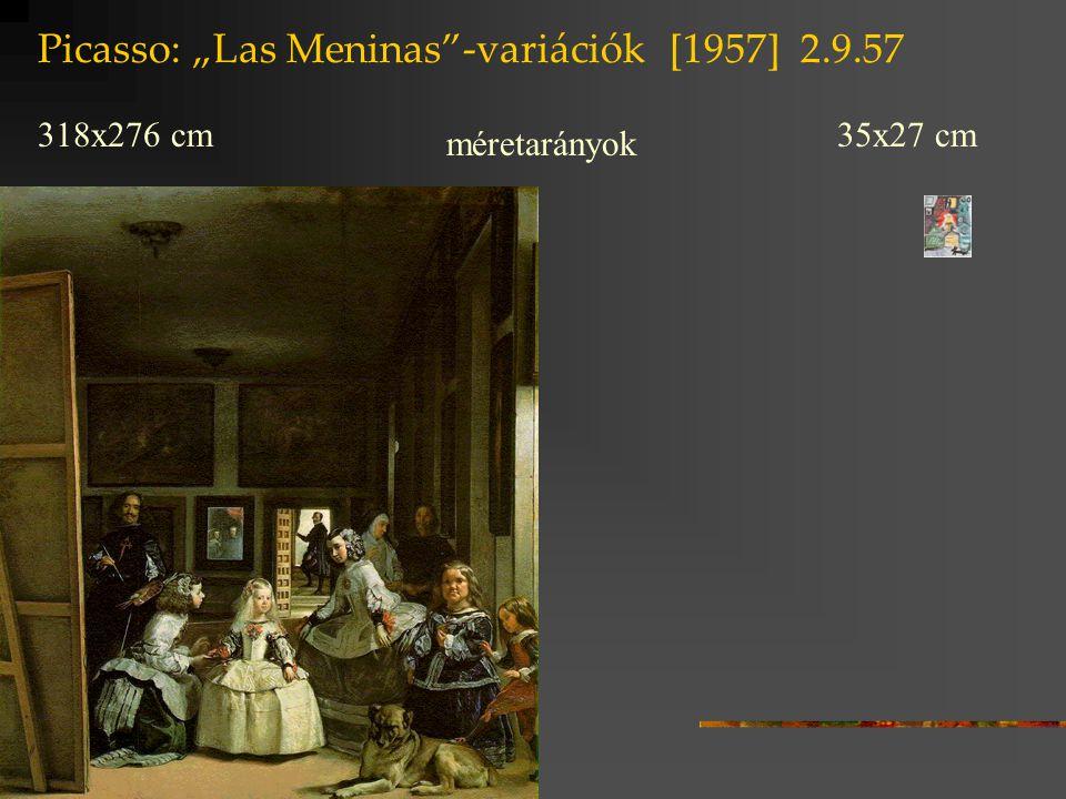 """Picasso: """"Las Meninas -variációk [1957] 2.9.57"""